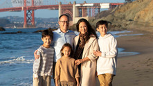 Family Photo Session on Baker's Beach San Francisco