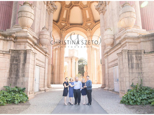 Family Photoshoot at the Palace of Fine Arts
