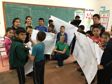 Primate conservation education in Paraguay.