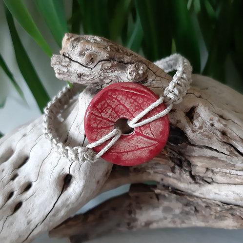 Bracelet eco-responsable Lin Rouge