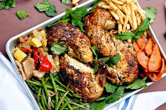 rotisserie chicken with sides
