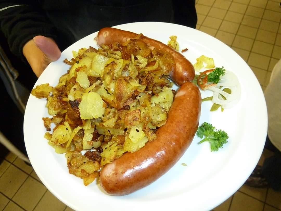 Bauernwurst mit Brägili - Löwenstrausse