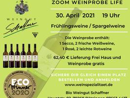Bio Weinprobe per Zoom Live...