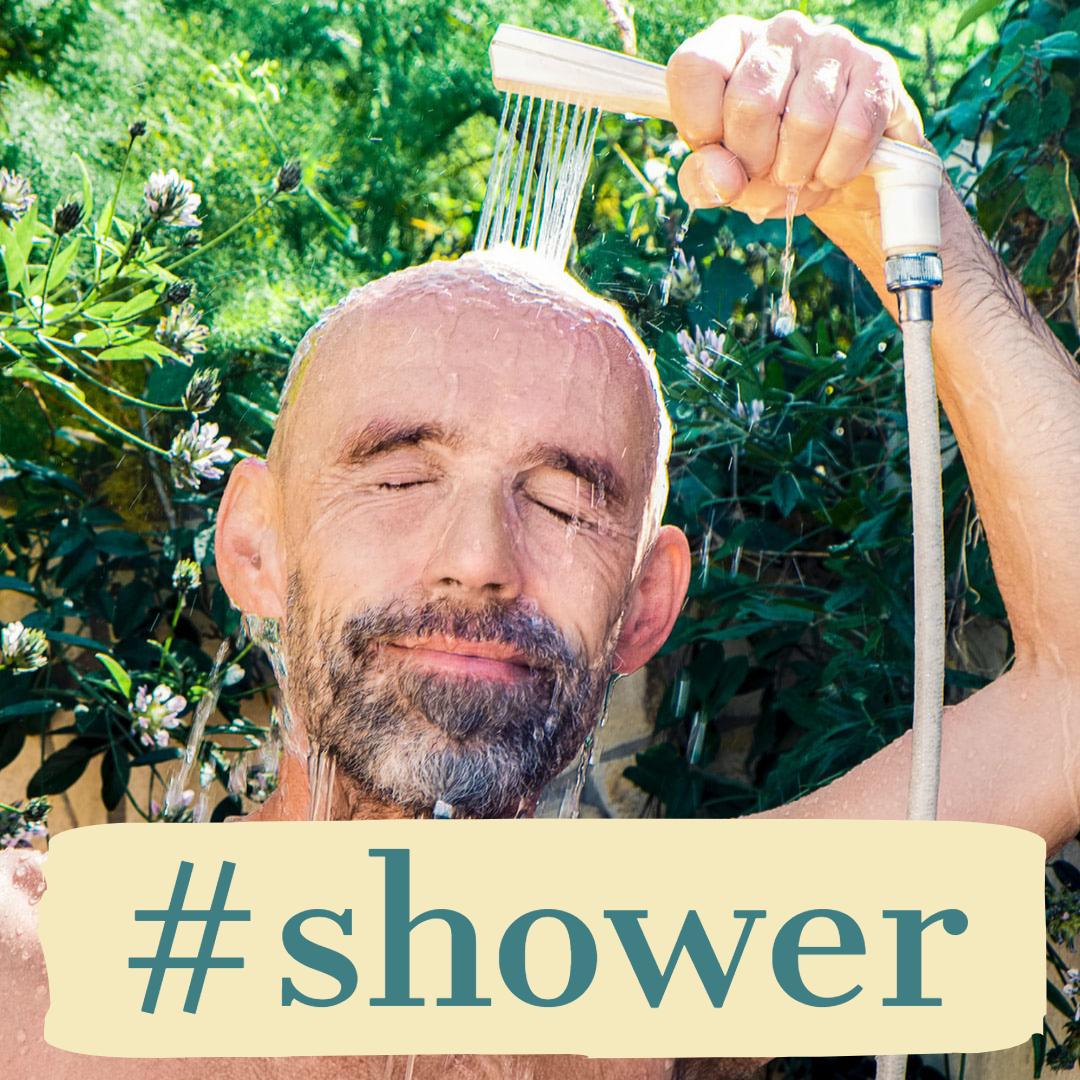 温水シャワーが無料