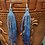 Thumbnail: ハンドメイド・ビーズアクセサリーピアス「すくも藍染めロング」(送料別)