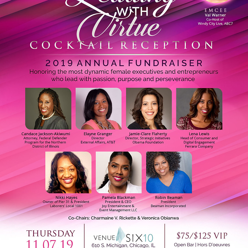 2019 Leading with Virtue Cocktail Reception