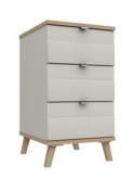 DERWENT 3 DRAWER BEDSIDE