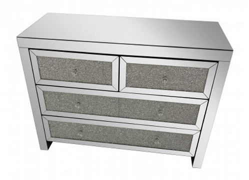 CRUSHED 4 DRAWER COMBI CHEST