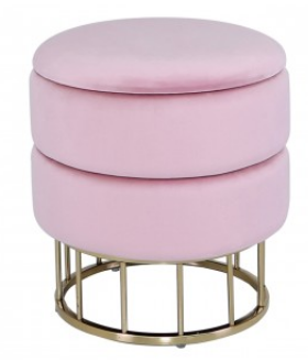 SMALL ROUND STORAGE STOOL