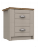 SKYE 2 DRAWER BEDSIDE