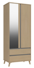 TAMAR DOUBLE COMBI MIRROR WARDROBE