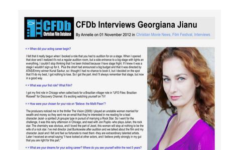 CFDB interviews Georgiana