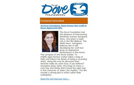 January 2013-The Dove Foundation Interviews Georgiana Jianu