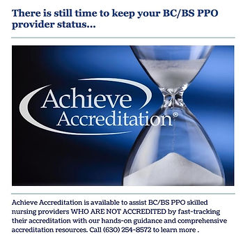 Achieve Accreditation is available to as