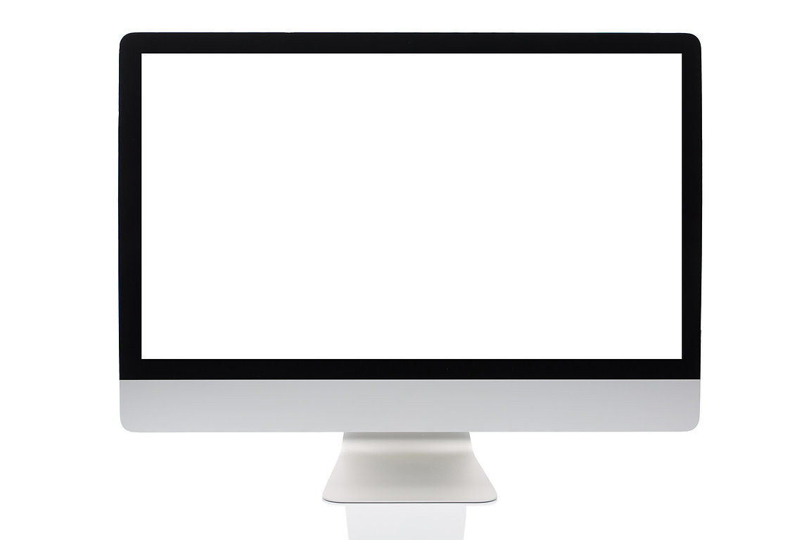 Computer screen isolated on a white back
