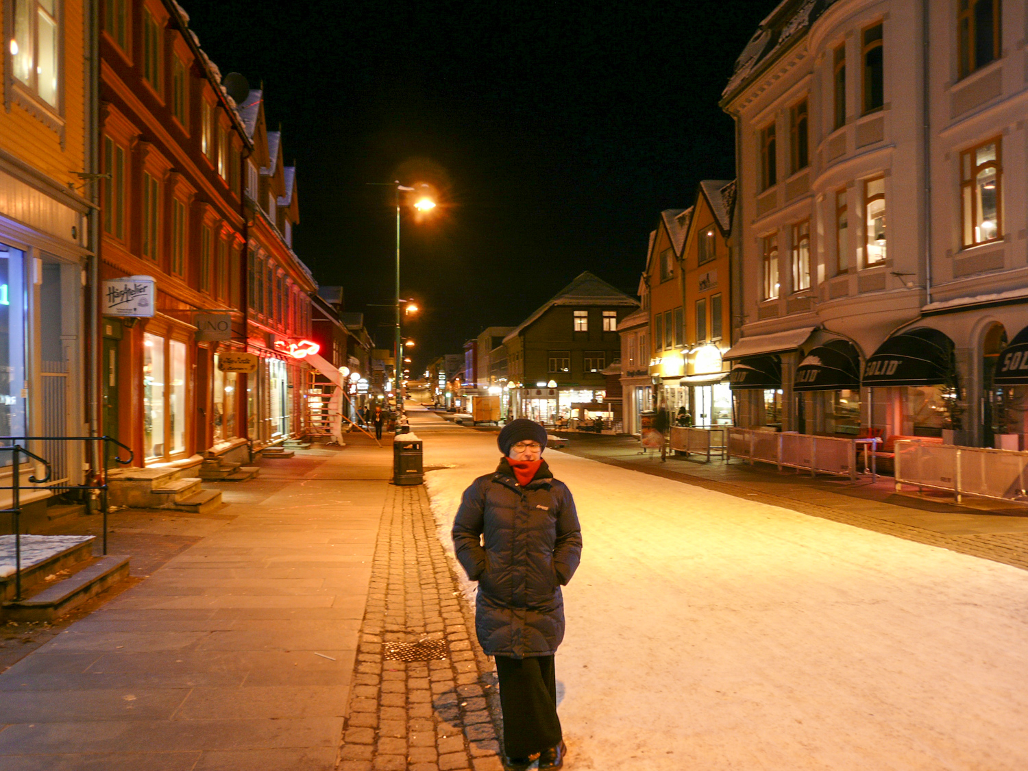 Heated sidewalks in the city centre