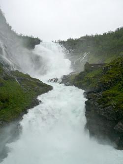 Water fall historic Flåm train