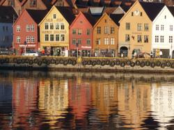 Bryggen in the evening sun