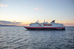 Hurtigruten in the evening