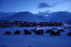Scooter parking Longyearbyen