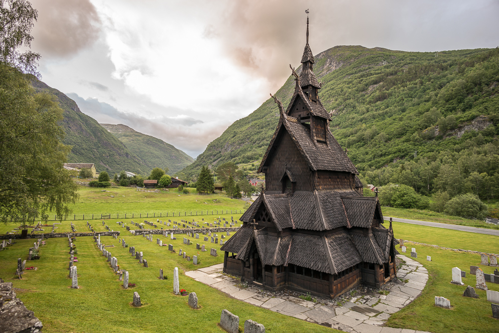 Burgundy stave church