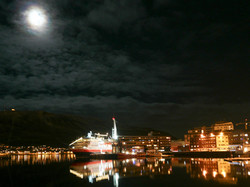 Hurtigruten arriving at Tromsø