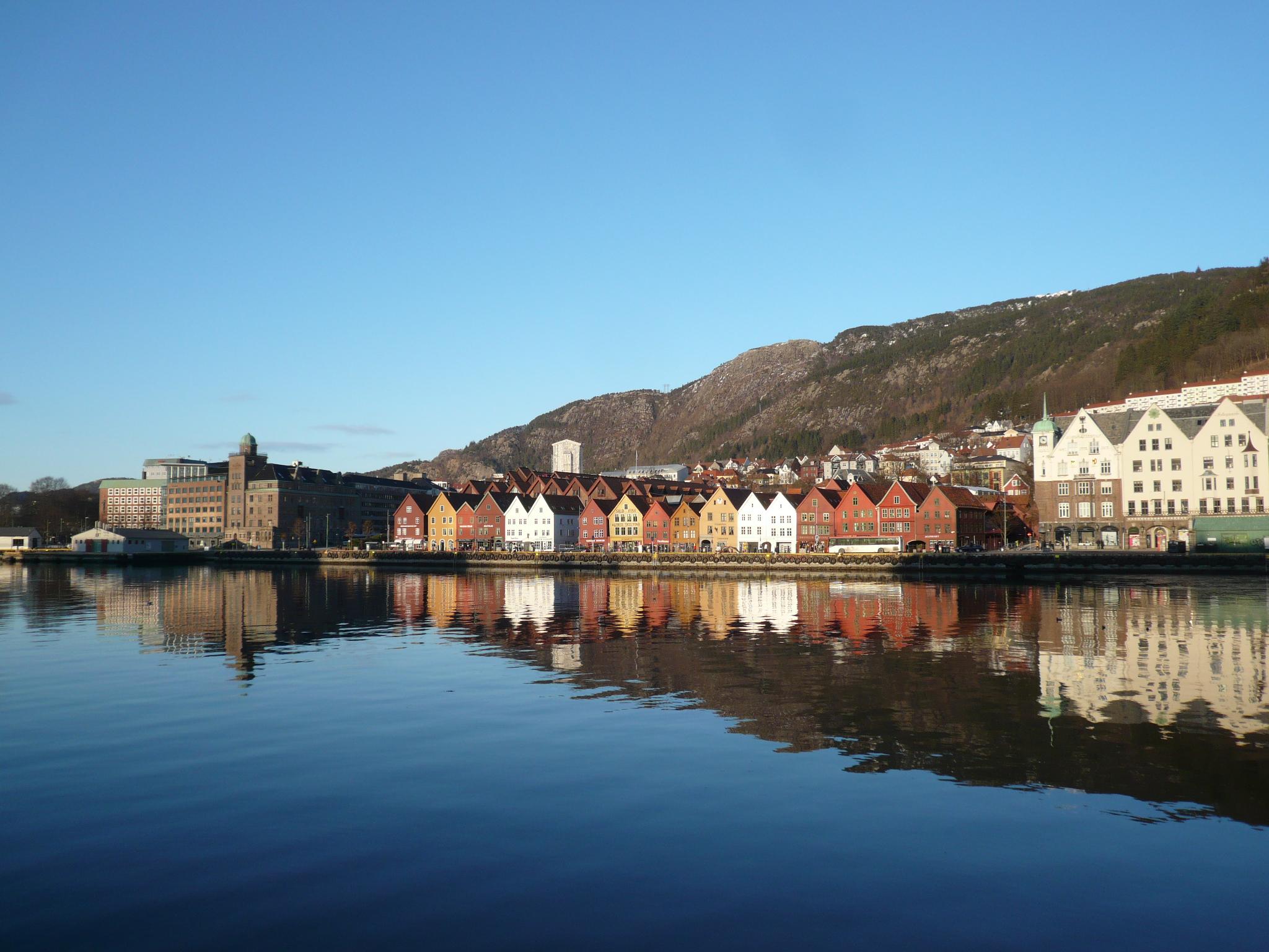 Bryggen in the sunshine