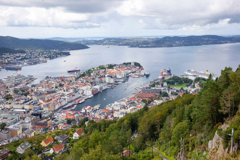 View from Fløyen