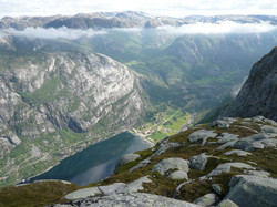 View onto Lysebotn