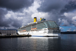Cruise ship in the harbour