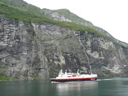 Hurtigruten in the Geirangerfjord