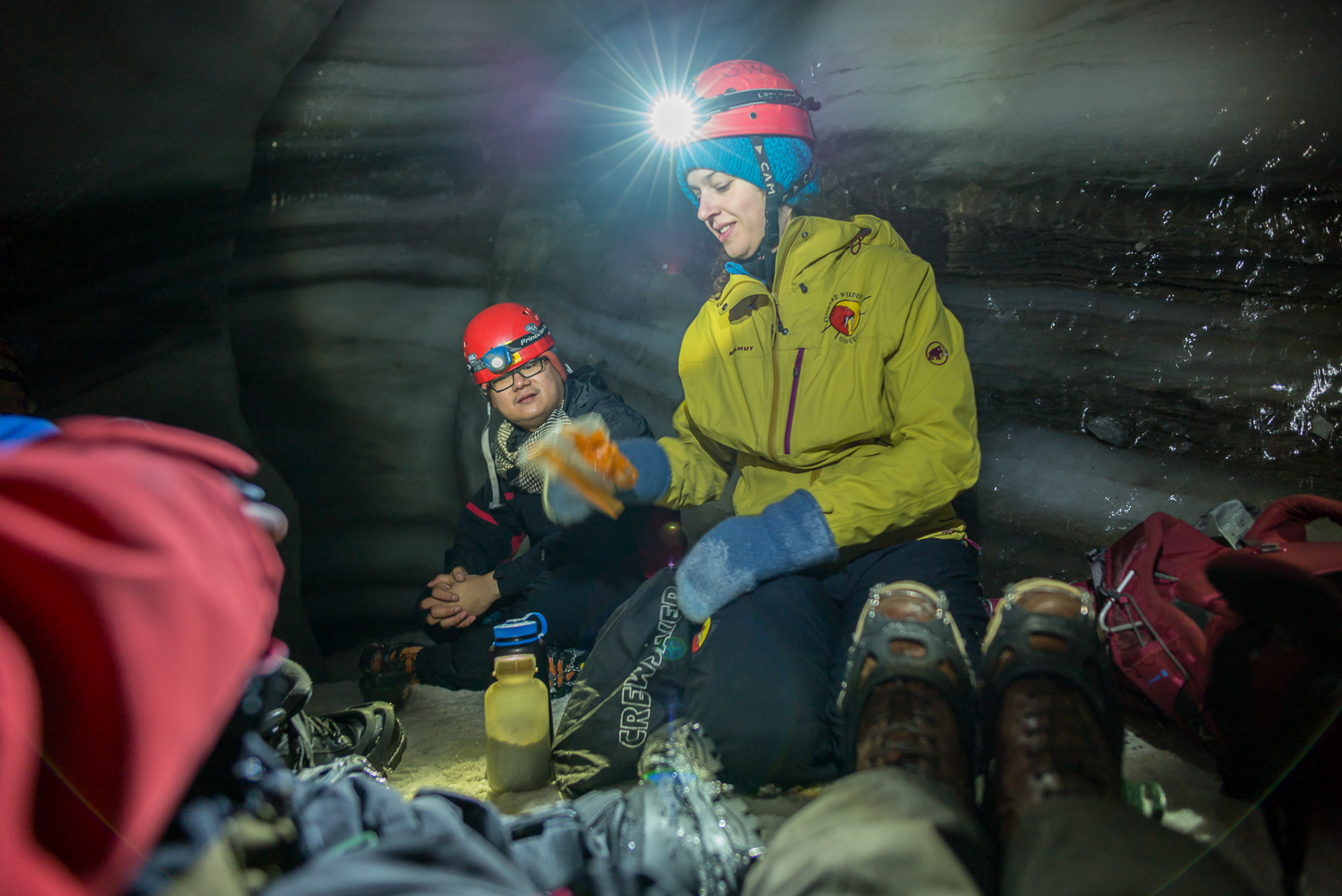 Lunch break in the ice cave