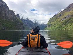 Kayaking on the Geiranger