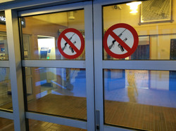 No weapons in the post office