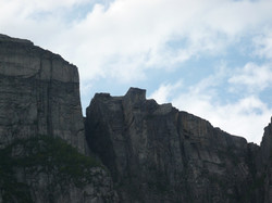 Prekestolen from the fjord