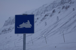 Snow scooter signs