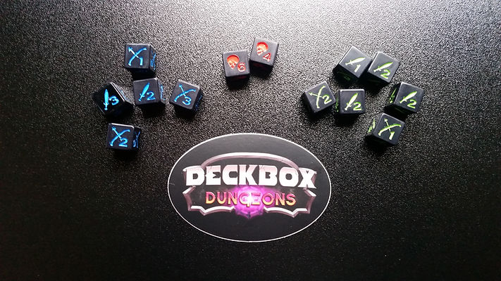 Deckbox Dungeons Prototype Dice