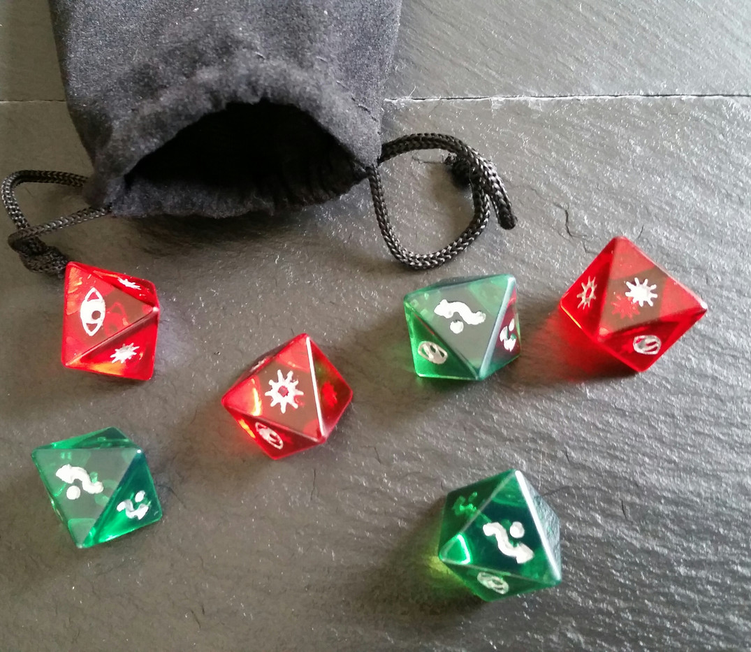 Tinted Clear Dice