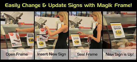 Easily Chjange signs with Magik Frame - Reusable