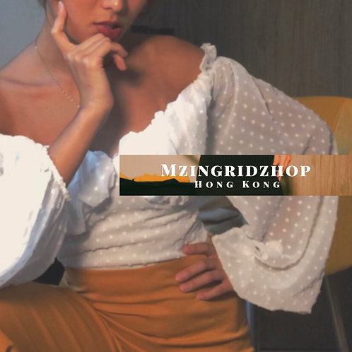 MZINGRIDZHOP | SUPERiconic Long Volume Sleeve Shirt in White
