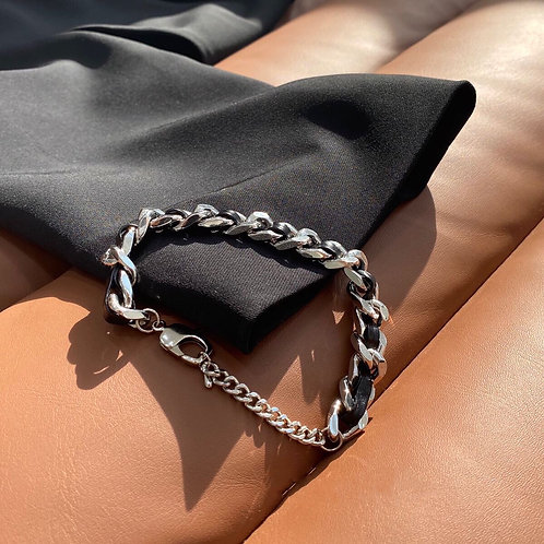 MZINGRIDZHOP | Chunky Chain Link in Sliver Tone (Adjustable)