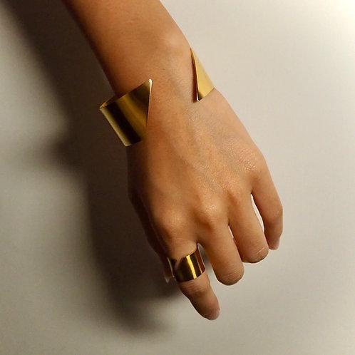 MZINGRIDZHOP   SUPERglamorous Bracelet and Ring in Golden