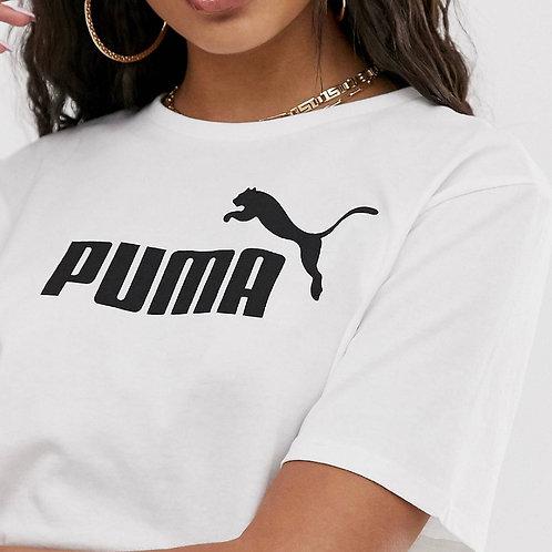 MZINGRIDZHOP | Puma Essential White Cropped Logo T-shirt