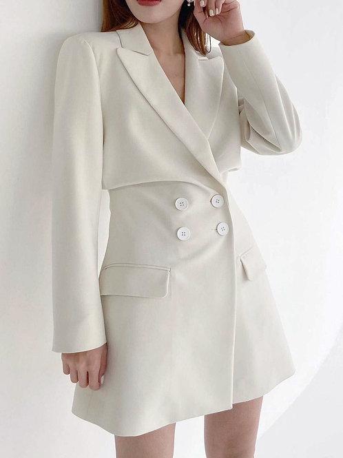 MZINGRIDZHOP | Wrap Front Mini Dress with Button