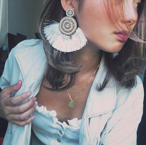 MZINGRIDZHOP | National beads-tassel Style Earrings
