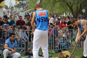 W Reddish competing in the boys chop at Hawkesbury Show, 2018