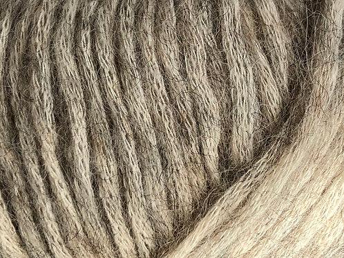 PUF 146 beige/grå-meleret