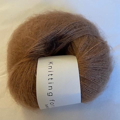 Soft Silk Mohair -Blød nougat