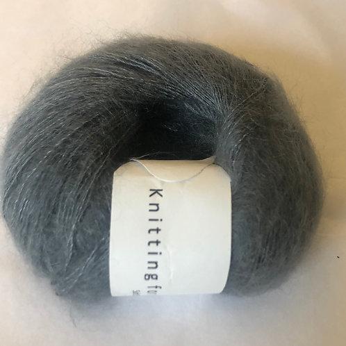 Soft Silk Mohair - Støvet pertroleumsblå