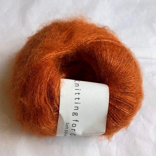 Soft Silk Mohair -Brændt orange